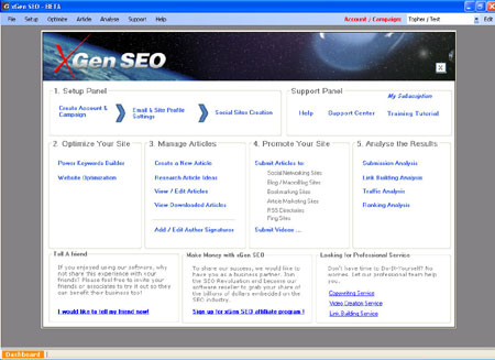 XGen SEO Software screenshot