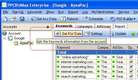 Get Keyword Data