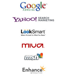 Supported search engine Google adwords, Yahoo Search marketing, Looksmart...